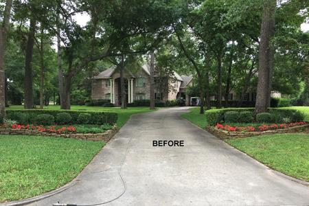 Driveway Pressure Washing in Tomball TX before