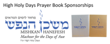 Prayer book sponsorships