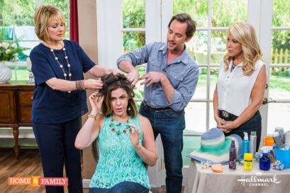 Billy Lowe shares beauty tips on Hallmark Home & Family show featuring products by Gloss & Toss.
