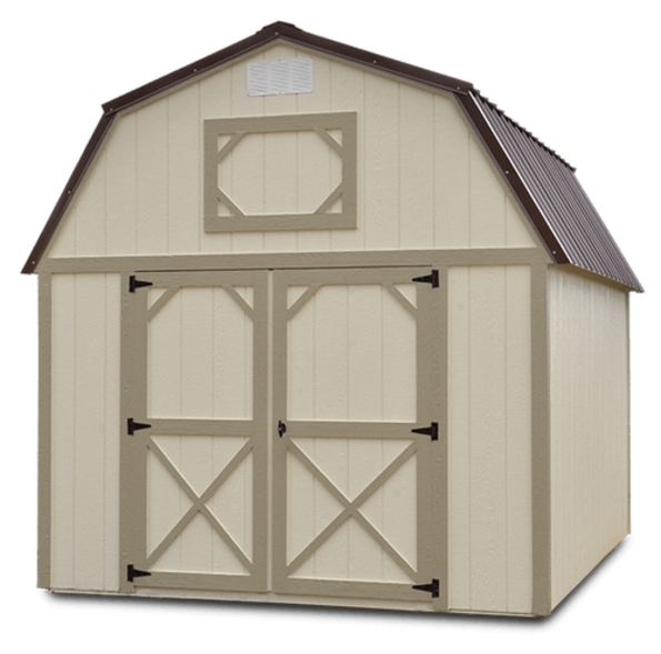 Painted Lofted Barn is available in multiple length and customizable