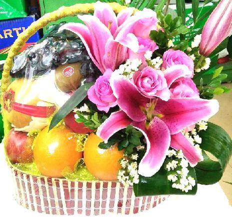 giỏ hoa quả nhập khẩu đẹp, giỏ trái cây đẹp tại Hà Nội