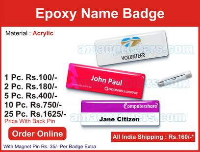 Epoxy Name Badges l Epoxy Pocket Name Plate Online Delhi-NCR,: