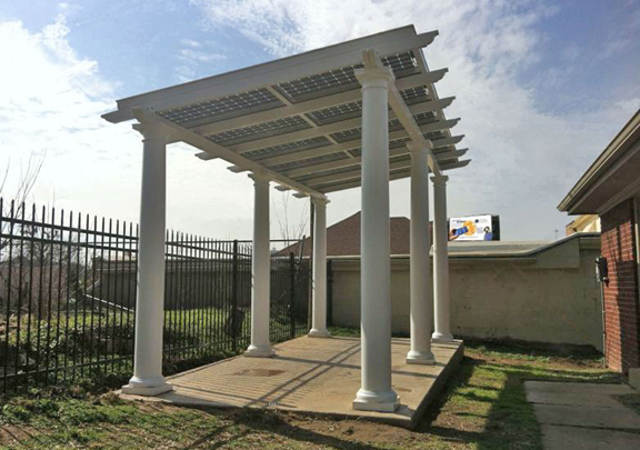 pictures by courtesy of www.floriansolarproducts.com - Solar Patio Cover, Custom Solar Framing System, Energy Efficient