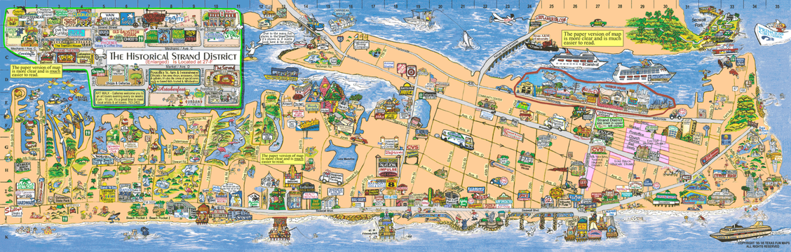 TAIL WAGGERS – Galveston Tourist Map