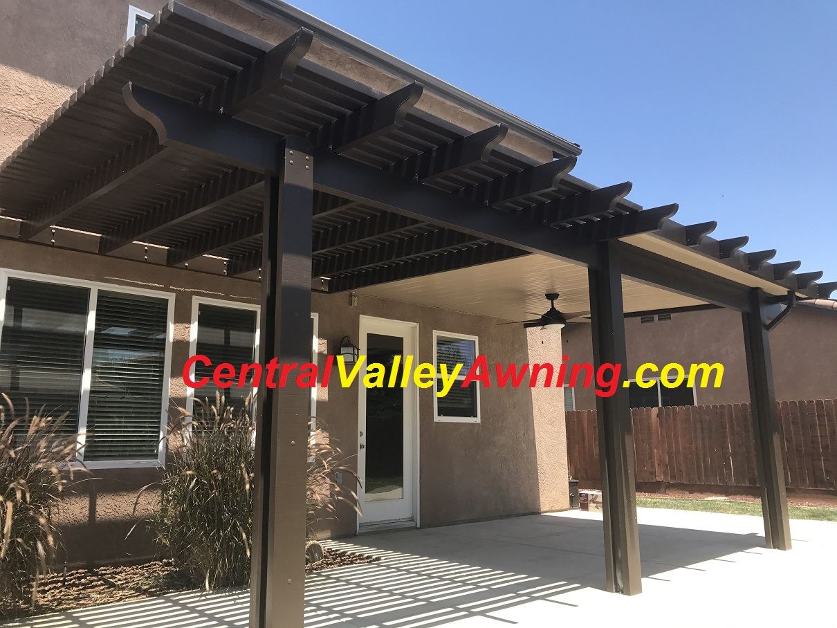 Patio Covers Awnings Fresno Cover Pergolas Pergola Awning Visalia Ca Metal