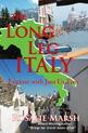 Image of jacket front of The Long Leg of Italy. May of Italy and three photos.