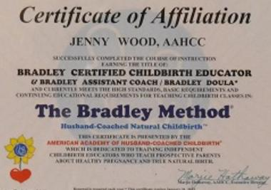 Bradley Method Of Natural Birth Class Taught By Jenny Wood