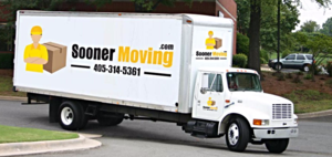 Sooner Moving Company Truck on the Road Providing Moving Services in Oklahoma