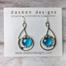 Aqua G-Clef Earrings
