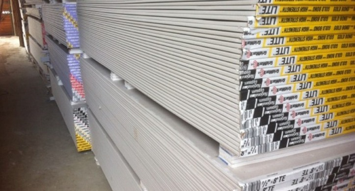 Contractors Building Supply Sells Gold Bond Drywall Products