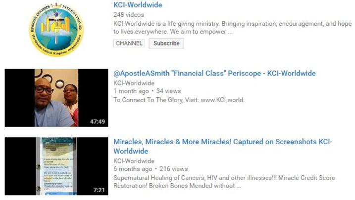 KCI-WORLDWIDE YOUTUBE PAGE