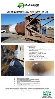 Astec 200-Ton Silo for Asphalt Plants