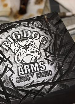 Big Dog Guns and Ammo custom made metal etched Cleaver Knife