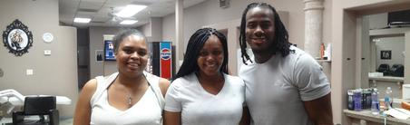 Miss Jazzy With Her clients NFL's Mr & Mrs. Josh Shaw