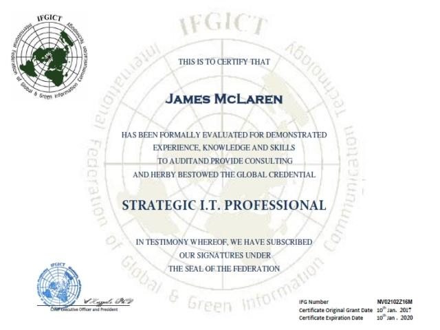 IFGICT , International Federation of Global & Green ICT IFGICT ...