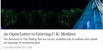 Open Letter to Grieving UK Mothers