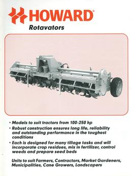 Howard Rotavators Brochure