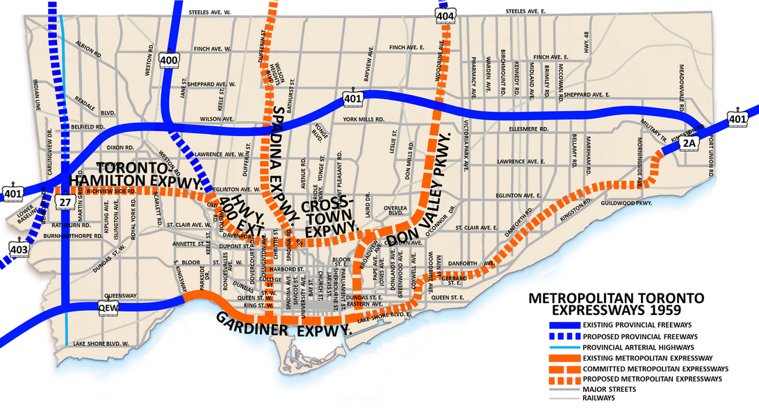 Get Toronto Moving Transportation Plan History - Crosstown ... on map of hwy 301, map of dulles greenway, map of indiana toll road, map of dulles toll road, map of suncoast parkway,