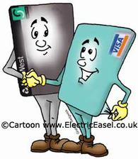 cartoon credit and debit cards