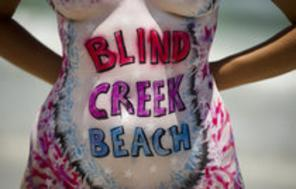 Blind Creek Beach, nude beach, naturist beach, free beach, clothing optional beach, naturism, nudism, nudist, nudie, Treasure Coast Naturists, Hutchinson Island, Fort Pierce, Ft Pierce, St Lucie County, Florida, Flick Photographic, Body Painting by Flick