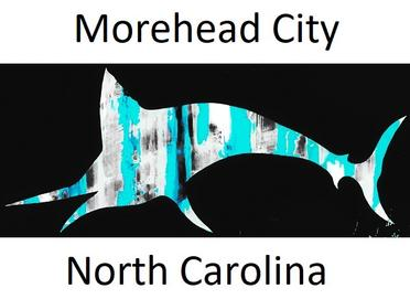 ei nc sticker, emerald isle nc sticker, nc sticker, bogue banks nc, nc artist, barry knauff, cape careret nc sticker, emerald isle nc, shark sticker, ei sticker, morehead city sticker, morehead city decal, morehead city blue marlin sticker