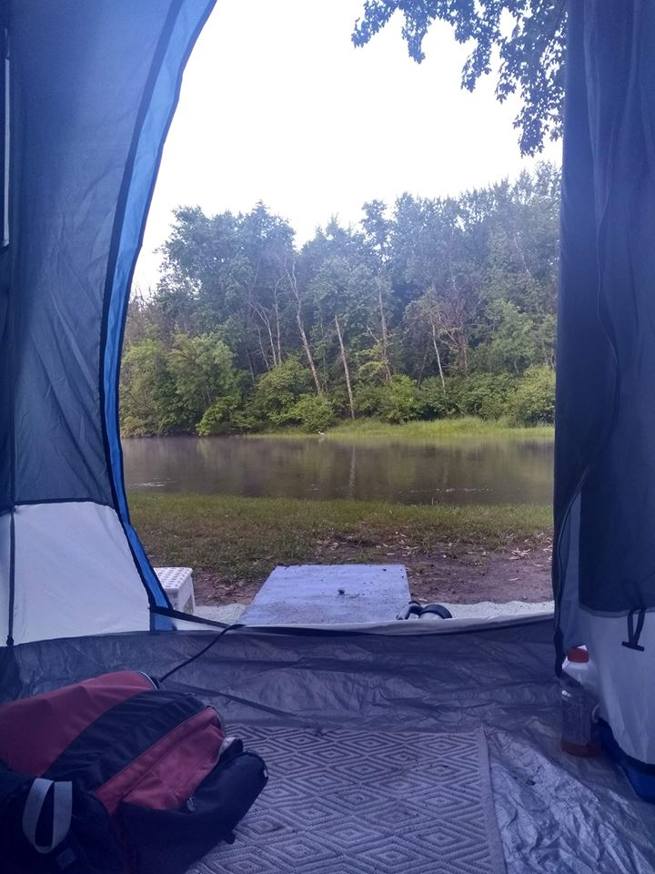 Campground on the river with canoe and kayak rentals