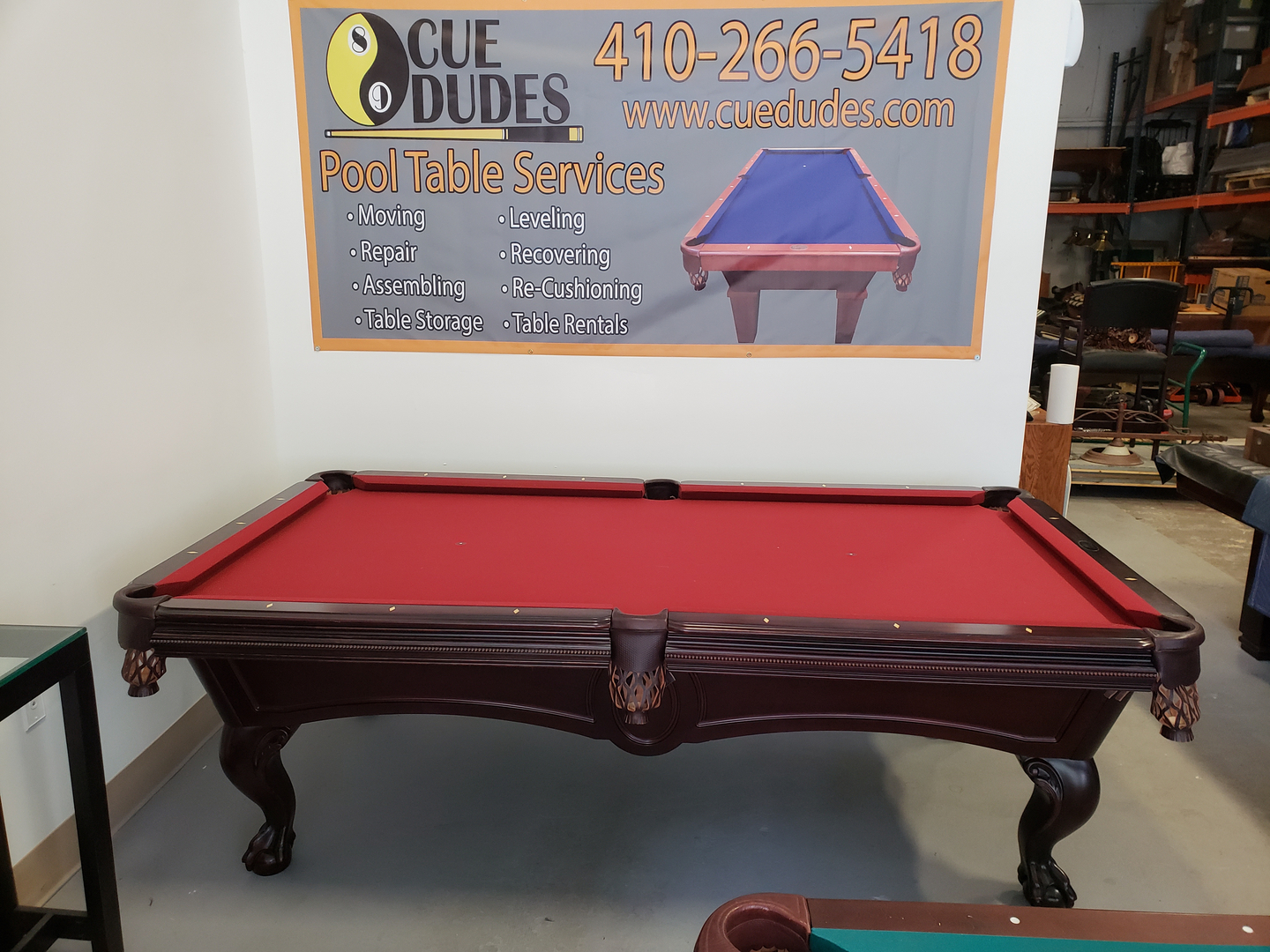 Refurbished Tables - Pool table leveling system