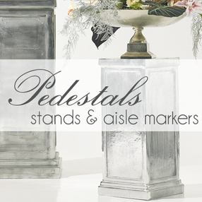 rent stands and pedestals wedding aisle markers