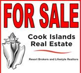 For Sale sign of Cook Islands Real Estate