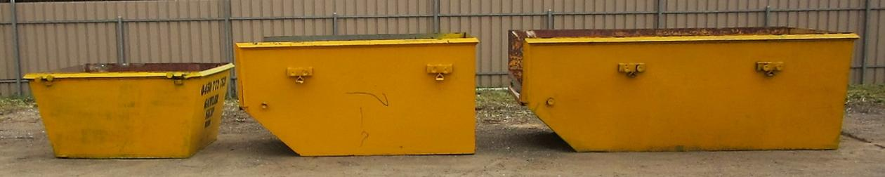 3 different size skip bins for rubbish removal