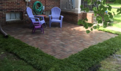 New paving brick patio was designed and layed by Grammatico Masonry in Ann Arbor