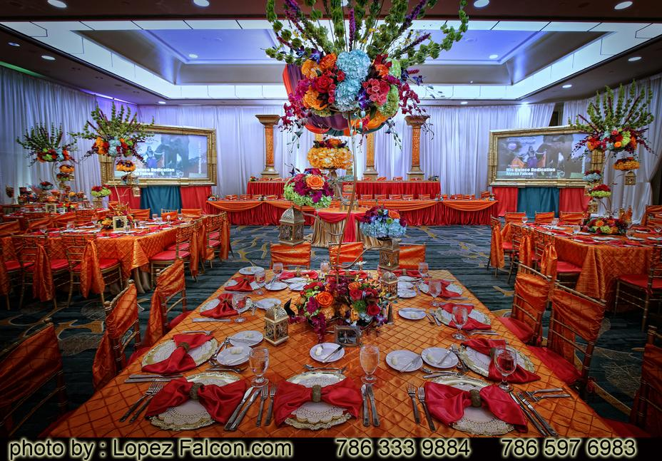 QUINCEANERA BOLLYWOOD CENTERPIECES MIAMI STAGE DECORATION