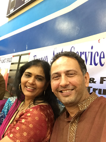 Mamta and Sanjay Dalal at Raas Garba event in Irvine, CA