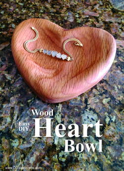 Heart Bowl easy DIY Valentines Day woodworking craft project. FREE step by step instructions. www.DIYeasycrafts.com