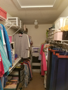 Owner's closet before Renovation