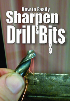 How to easily sharpen drill bits. www.DIYeasycrafts.com
