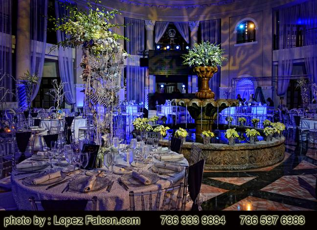 Westin Colonnade Coral Gables hotel Quinces Party Miami Stage Decoration
