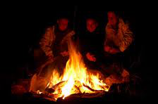 picture of family at campfire