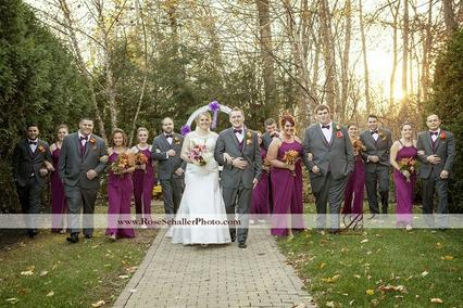 Wedding Party in Garden at Mill Creek Caterers in Hopewell Junction, NY