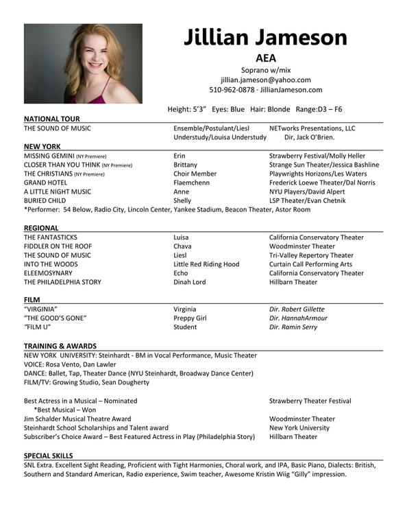 Resume  actor headshot resume examples templates   Resume