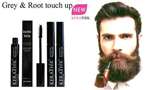 09a21776ed4 Touch Up Hair, Roots, Beard, Eyebrows & Mustache Instantly. For Men & Women.  Kerathik Grey ...