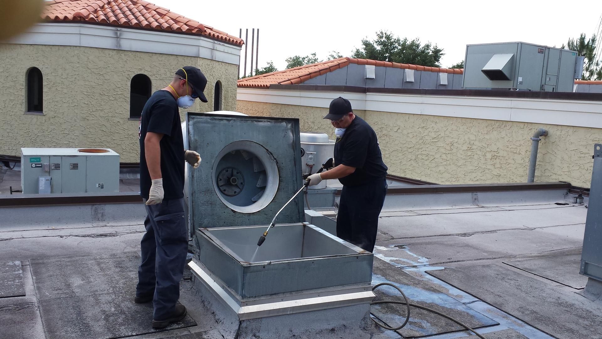 schedule services n and vent cleaning commercial nfpa kitchen hood on clean site