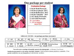graduation pictures for Undergrad students packages and prices