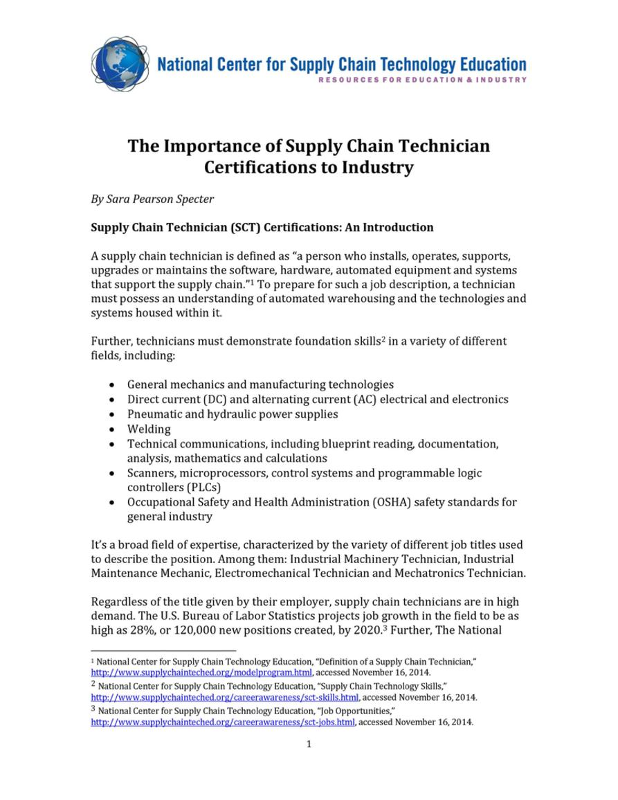 White papers the importance of supply chain technician download the pdf 739kb malvernweather Images