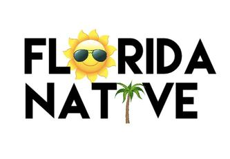 Florida, Floridian, Native, Native Floridian, Florida Souvenirs, MiaMoon Designs, Florida gifts, Florida stickers, Florida tshirts, Lissette Rozenblat