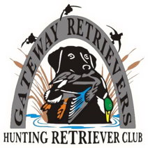 dog club logo,king buck image,retriever dog holding quarry,waterfowl in labradors mouth