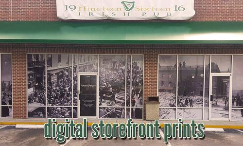 Solar Graphics Color Digital Storefront Prints On Film Optically Clear Translucent Image Picture