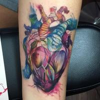 Watercolor Heart Tattoo