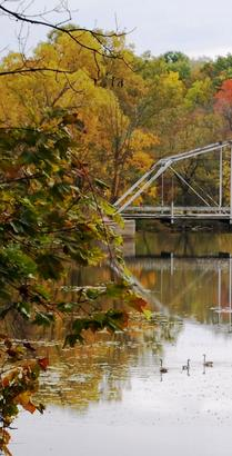 Elsie Grist Mill Dam Bridge - photographed by Richard Bates