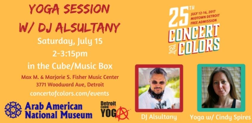 Concert of Colors Yoga Session with DJ Alsultany